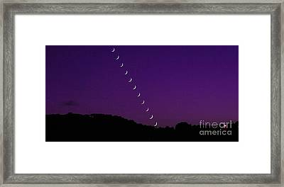 Purple Moon Setting In West Framed Print