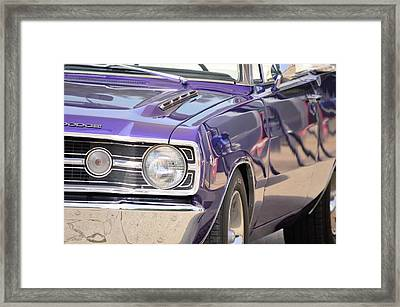 Purple Mopar Framed Print