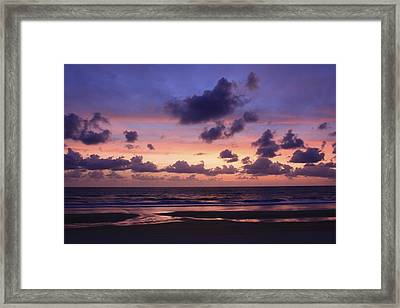Purple Morning Framed Print by Kimberly Oegerle