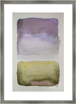 Purple Morning Framed Print
