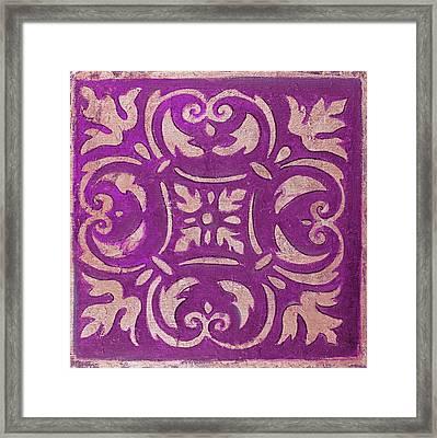 Purple Mosaic Framed Print by Patricia Pinto