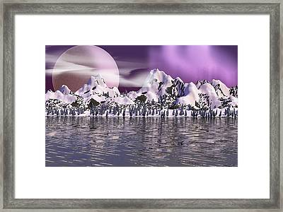 Purple Mountain Lake Framed Print