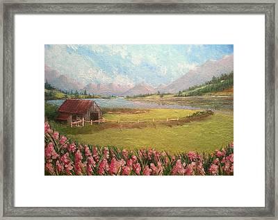 Purple Mountain Majesty Framed Print by Just Joszie