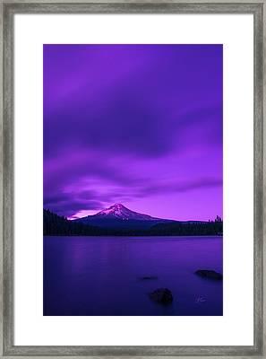 Purple Mountain Majesty Framed Print by Lori Grimmett