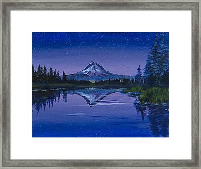 Purple Mountain Framed Print