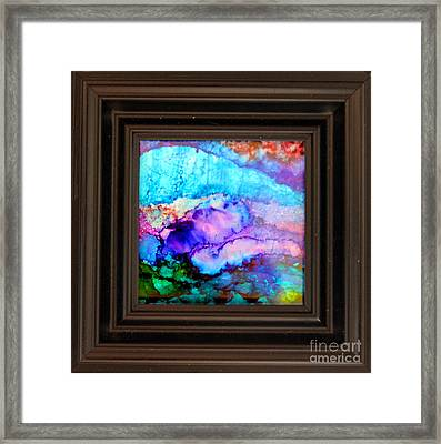 Purple Mountains Framed Print by Alene Sirott-Cope