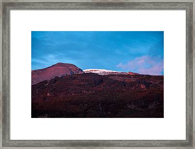 Purple Mountains At Sunset Framed Print by Jess Kraft