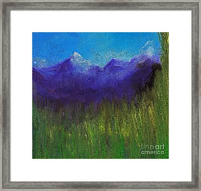 Purple Mountains By Jrr Framed Print