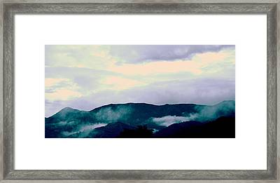 Purple Mountains Majesty Blue Ridge Mountains Framed Print
