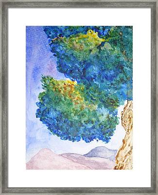 Purple Mountains Majesty Framed Print by Catherine Arcolio