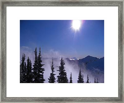 Purple Mountains Majesty Framed Print