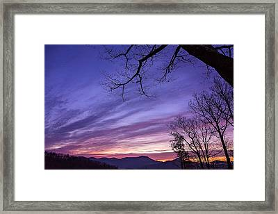 Purple Mountains Framed Print