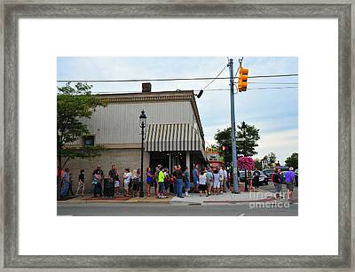 Purple Movie Comes To Clare Michigan Framed Print by Terri Gostola