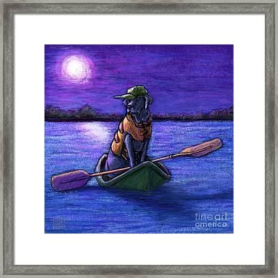 Purple Night Framed Print by Kathleen Harte Gilsenan