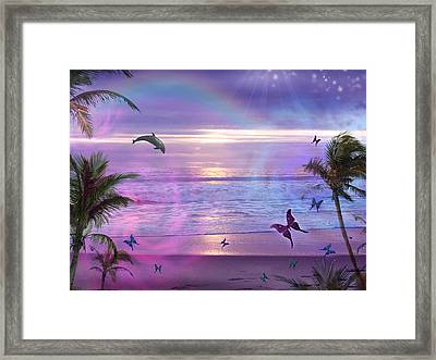 Purple Ocean Dream Framed Print by Alixandra Mullins