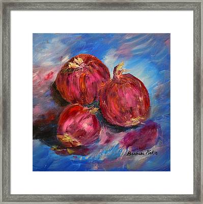 Purple Onions Framed Print by Barbara Pirkle