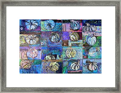 Purple Onions Framed Print by Mindy Newman