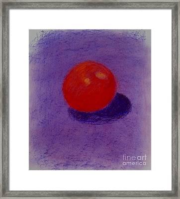 Purple Orange Framed Print by Christopher Murphy