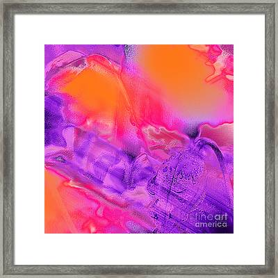 Purple Orange Pink Abstract Framed Print