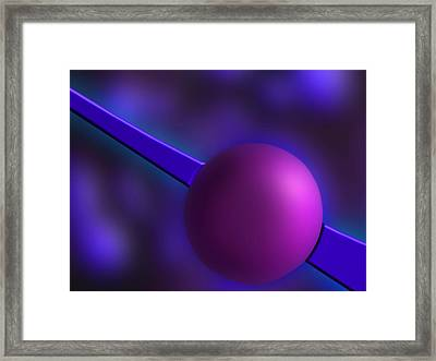 Framed Print featuring the photograph Purple Orb by Paul Wear