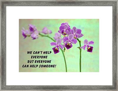 Purple Orchid Quote-1 Framed Print
