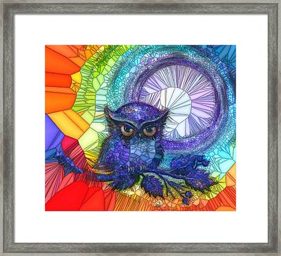 Owl Meditate Framed Print