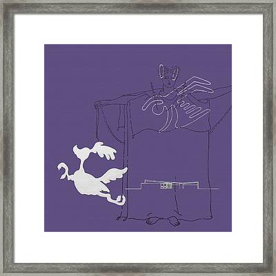 Purple Palm Springs Idyll Framed Print by Stan  Magnan