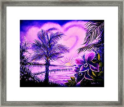 Purple Palm Framed Print