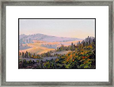 Purple Palouse Morning Framed Print by Diana Moses Botkin
