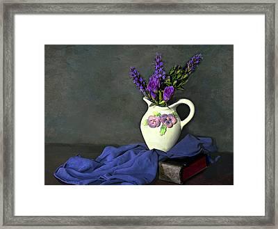 Purple Pardon Framed Print by Diana Angstadt
