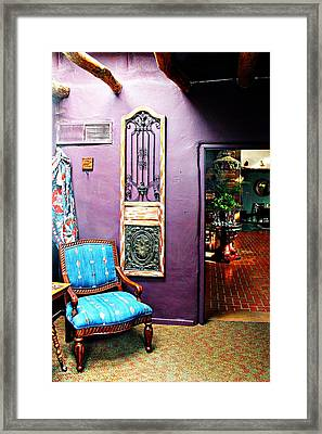 Purple Parlor Framed Print by Barbara Chichester