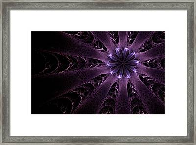 Framed Print featuring the digital art Purple Passion by GJ Blackman