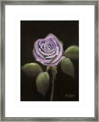 Purple Passion Framed Print by Nancy Edwards