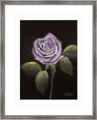 Purple Passion Framed Print by Nancy Edwards