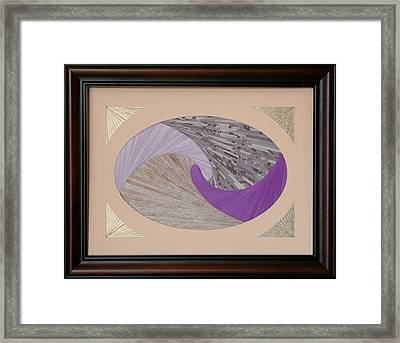 Framed Print featuring the mixed media Purple Passion by Ron Davidson