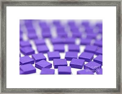 Purple Pattern Framed Print by Amy Cicconi