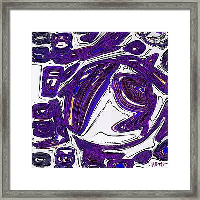 Purple People Eater Framed Print by Alec Drake