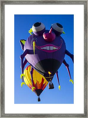 Purple People Eater And Friend Framed Print by Garry Gay