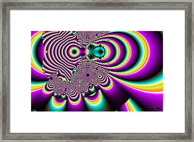 Purple People Eater Framed Print