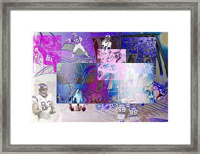 Purple People Eaters Framed Print