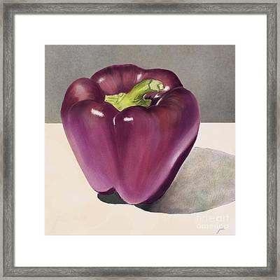 Purple Pepper Framed Print
