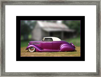 Framed Print featuring the photograph Purple Perfection by Keith Hawley