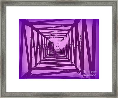 Framed Print featuring the photograph Purple Perspective by Clare Bevan