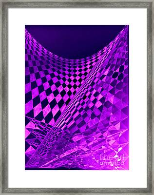 Purple Perspectives Framed Print