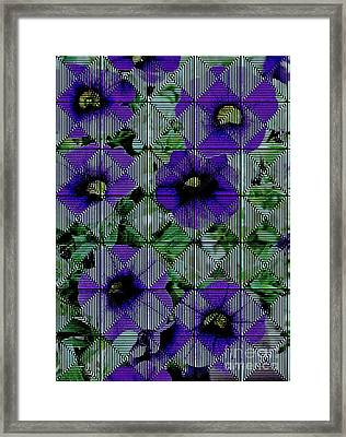 Purple Petunia Abstract Framed Print by Marsha Heiken