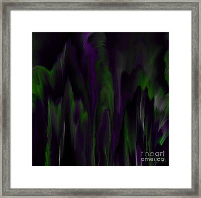 Purple Plumage Framed Print by Patricia Kay