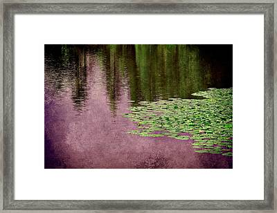 Purple Pond Reflections Framed Print