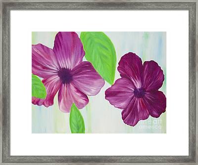 Purple Pop Flowers Framed Print