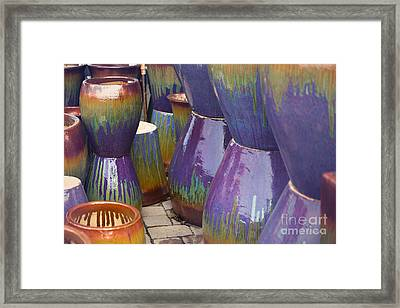 Purple Pots Framed Print