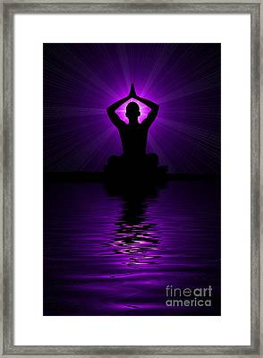 Purple Prayer Framed Print by Tim Gainey